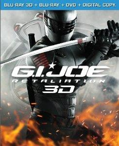 G.I. Joe Retaliation Bluray 3D  Bluray  DVD  Digital Copy UltraViolet 2013